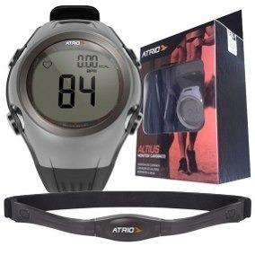 Relógio Monitor Cardíaco Atrio Altius Lacrado Cinza Branco