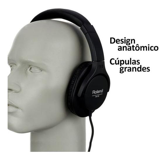 Headphone Rh5 Roland Fone De Estudo Instrumentos + Plug P10