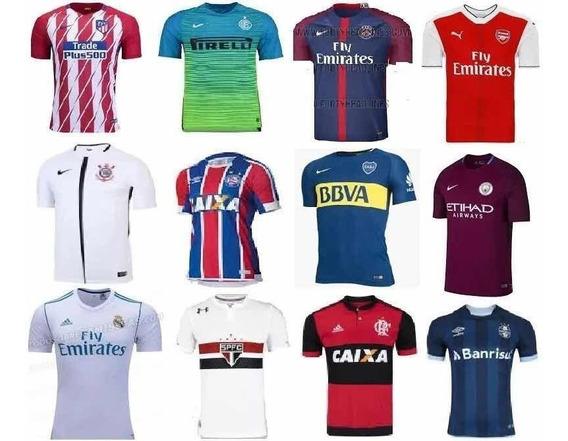 Camisas De Clubes Nacionais E Estrangeiros, Modelo Torcedor.