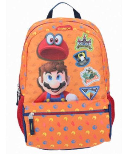 Mochila Grande Super Mario Naranja Chenson