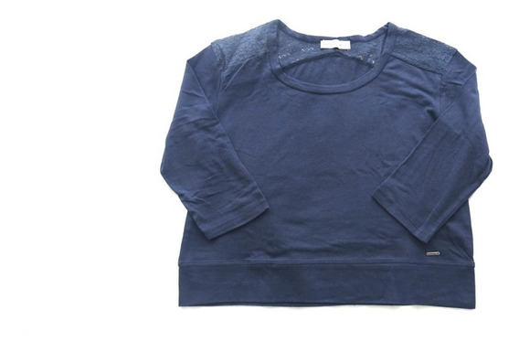 Remera Abercrombie & Fitch Talle S Azul