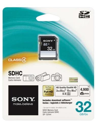 Cartão De Memória 32gb, Sdhc Sony, Original,  No Blister.
