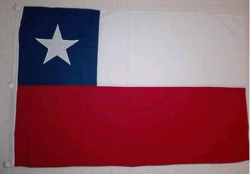 Imagen 1 de 4 de Banderas Chilenas 60 X 90 Trevira Reforzada
