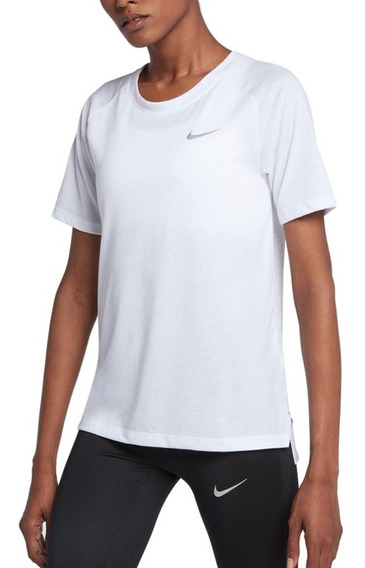 Remera Nike Tailwind Blanco Mujer