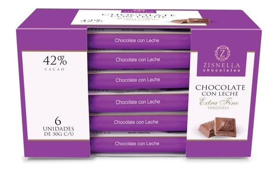 Chocolate Con Leche 30g 42% Cacao (6 Unid)