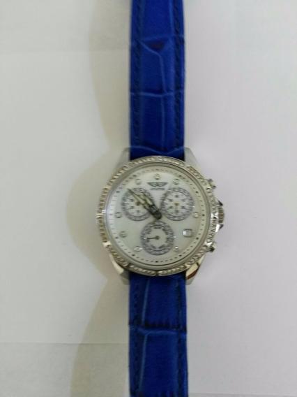 Reloj Aviator Con Pedreria Y Cronografo, F 1102000084017