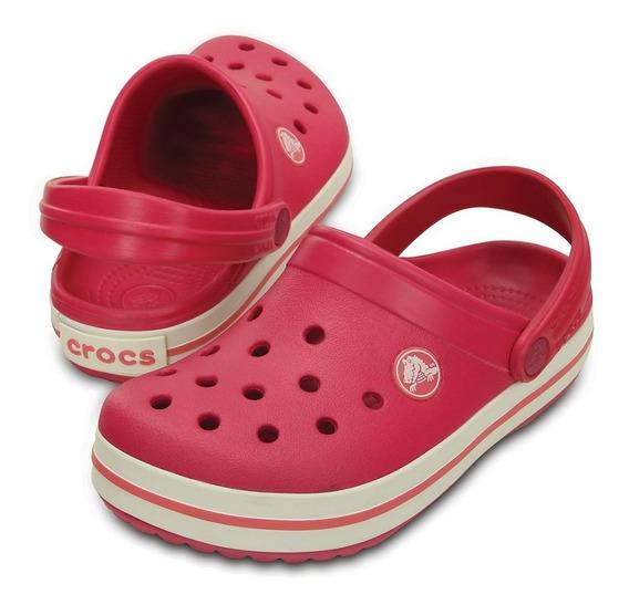 Crocs Crocband Niños -raspberry White-