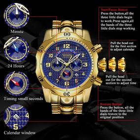 Relógios De Ouro De Luxo Azul Marcação Grande Marca Temeite