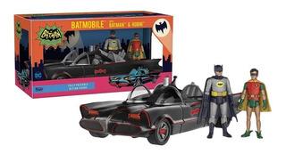 Auto Batimovil 1966 Funko Con Figuras Batman Y Robin!!!
