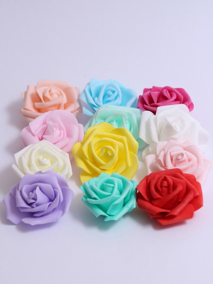 Flores De Goma Eva Elaboradas Grandes X 100 Unidades