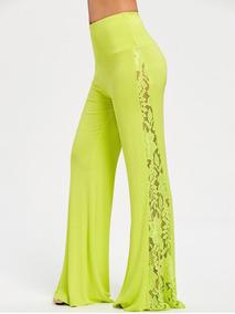 1fd8ca41e3 Pantalon Ancho De Fiesta Mujer - Vestuario y Calzado en Mercado ...