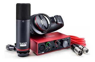 Focusrite Scarlett Solo Studio 3ra Gen Kit Grabacion Envios