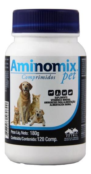 Aminomix Pet 120 Comprimidos Vetnil Suplemento Vitaminico