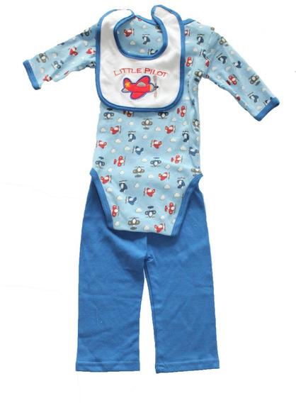 Mono O Pijama De Bebe Niño 3 Piezas Genial