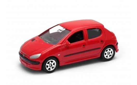 Welly Peugeot 206 1/60 Ruedas De Goma Rosario