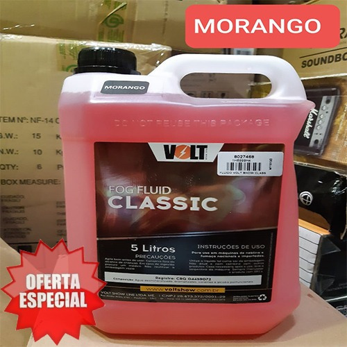 Fluido Volt Show P/maquina De Fumaça Classic Morango 5 L