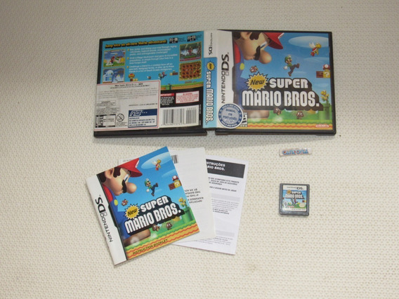 New Super Mario Bros Ds Original Capa E Manual Nds 3ds