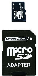 Dane-elec 8 Gb Clase 4 Tarjeta De Memoria Flash Microsdhc Co