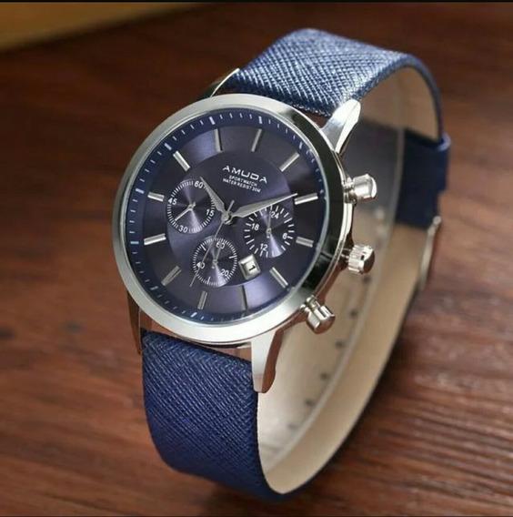 Promoção Relógio Masculino Amuda Luxo Original Com Estojo