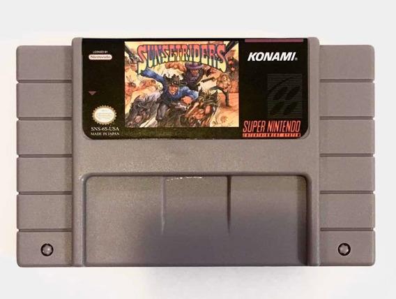 Fita Cartucho Paralelo Sunset Riders Para Super Nintendo