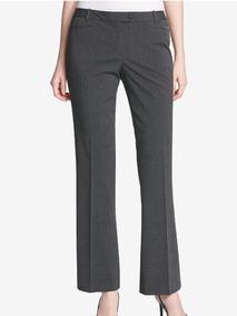 Pantalon Calvin Klein Gris Oscuro Bota Recta Talla 10