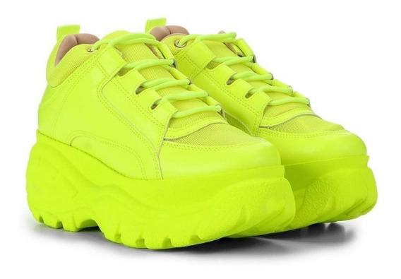 Tênis Sneaker Buffalo Verde Neon