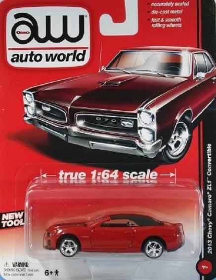 Auto World 1/ 64 Metal Rojo 2013 Chevrolet Camaro Zl1