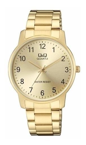 Relógio Qq Masculino Dourado Social