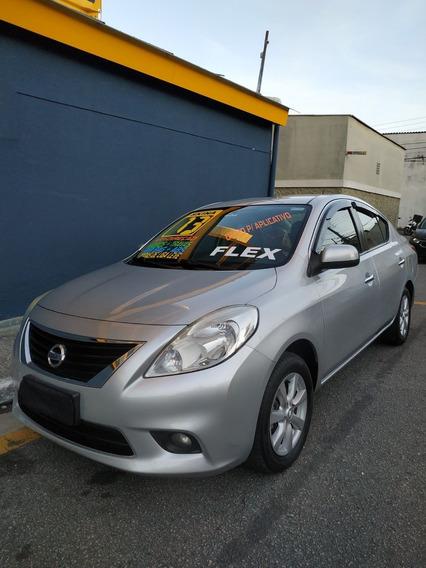 Nissan Versa 1.6 Flex Sl 2013 Prata Compl/novo/r$ 31.990,00