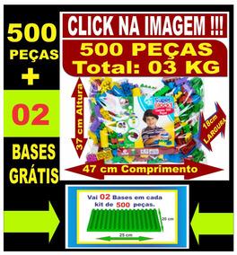 Super Kit Com 02 Pacotes Com 500 Peças Cada + 04 Bases