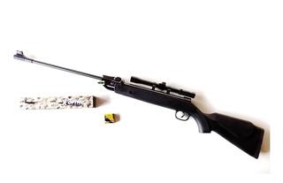 Rifle De Aire Comprimido 5.5 Mm Con Mira Alta Potencia