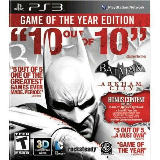 Jogo Batman Arkham Astylum Of The Year Ps3