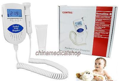 CE Doppler fetal-Baby Monitor cardíaco fetal-Pantalla LCD,CONTEC garantía 100/%