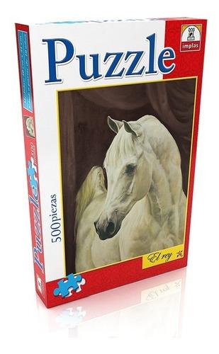 Puzzle 500 Piezas El Rey Caballo Blanco 281 Educando