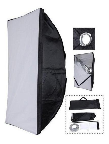 Soft-box 60x90 Cm Com Suporte Para Flash Tocha Greika C/ Nf