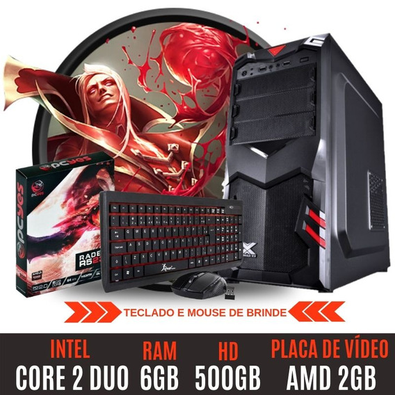 Pc Gamer Core 2 Duo Hd500 6gb Amd Radeon 2gb Mega Oferta