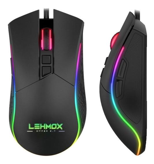 Mouse Gamer Led Rgb E Macros Customizaveis 6400 Dpi Barato