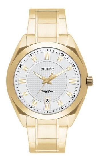 Relógio Masculino Dourado Orient Mgss1053 S1kx