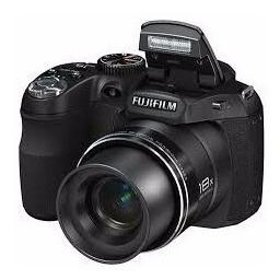 Câmera Fujifilm Usada Finepix S2800 Hd Preta C/ 14mp,