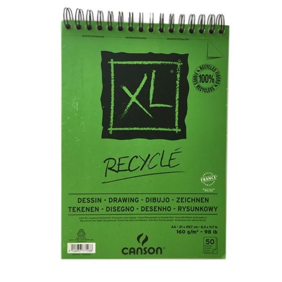 Block Con Espiral Xl Recyclé Canson 21 X 29.7 Cm 160 G/m2