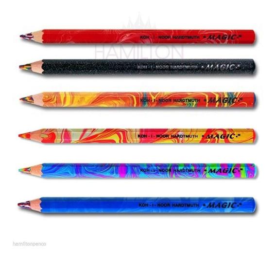 Lapices Koh-i-noor Cambia Color Jumbo Magic Por 6 Unidades