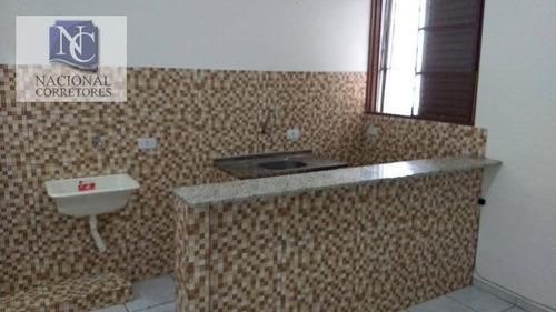 Kitnet Com 1 Dormitório Para Alugar, 20 M² Por R$ 500,00/mês - Parque Das Nações - Santo André/sp - Kn0114