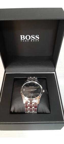 Relógio Hugo Boss Com Marcação De Data (pulseira De Aço)