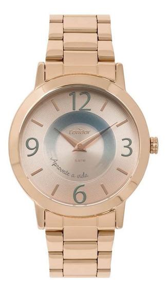 Kit Relógio Condor Feminino Co2034ac/k4j
