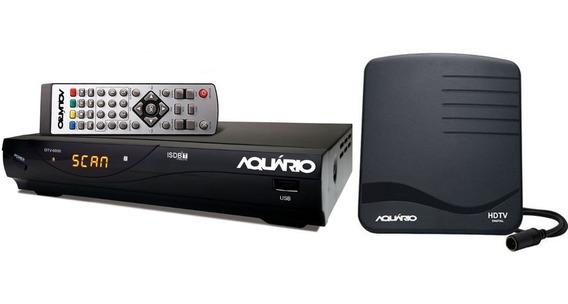Conversor Digital Aquário Dtv 6000 E Antena Digital