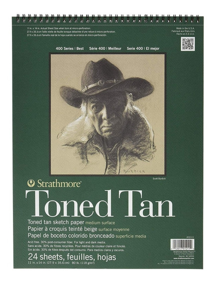 Cuaderno De Dibujo Strathmore Toned Tan Sketch 28 X 35 Cm