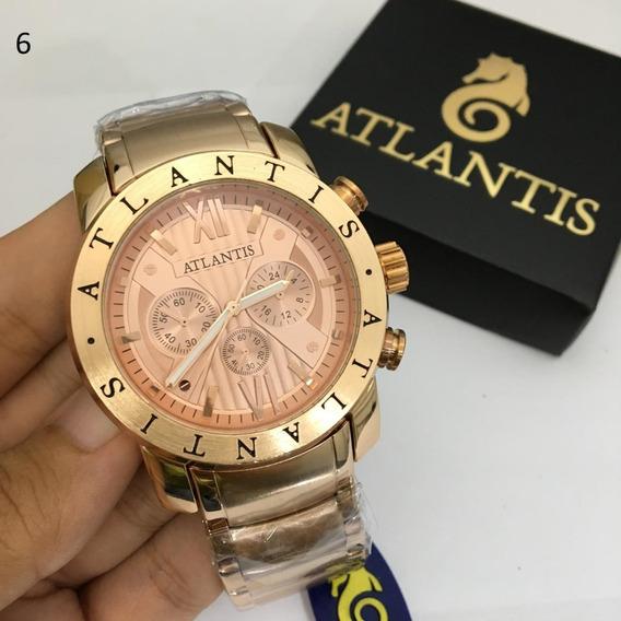 4 Relógios Atlantis A3310 Original Atacado + Bateria Extra