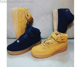 Botas Nike Air Force One Para Niños Color Oro
