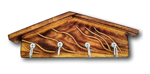 Porta Chaves Em Madeira Rústico Ref. 0301