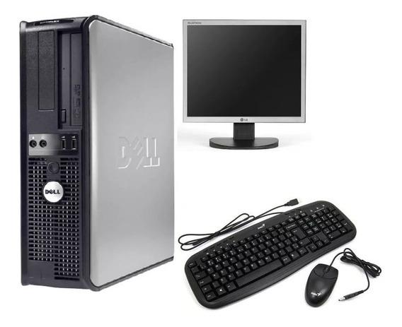 Computador Dell 360 Core 2 Duo Mem 2gb Hd 160gb + Monitor 17